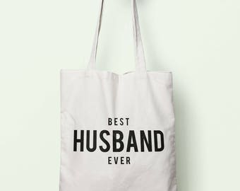 Best Husband Ever Tote Bag Long Handles TB1244