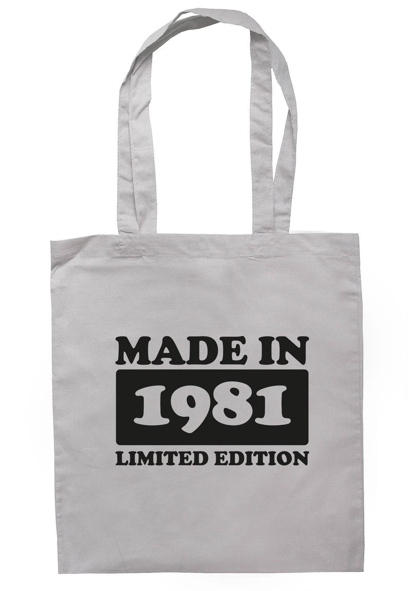 Made In 1981 Limited Edition Tote Bag Long Handles TB1744