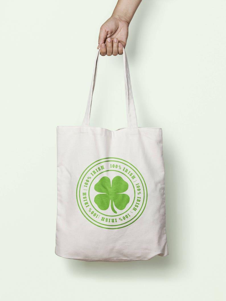 100/% Irish Tote Bag Long Handles TB0324