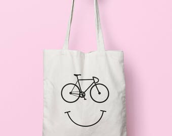 Cycle Smile Tote Bag Long Handles TB0789