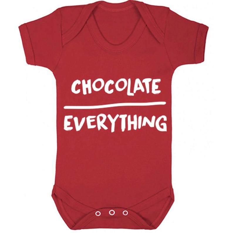 Chocolate Over Everything baby vest babygrow K0121