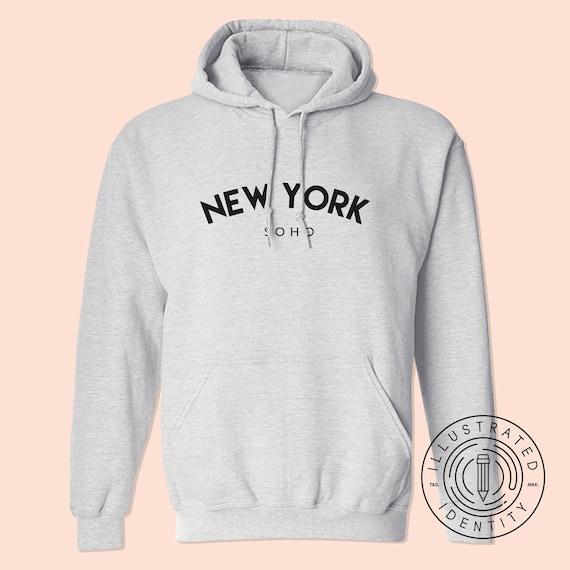 New York Soho Unisex Fit Hoodie Hooded Sweatshirt K0103 by Etsy
