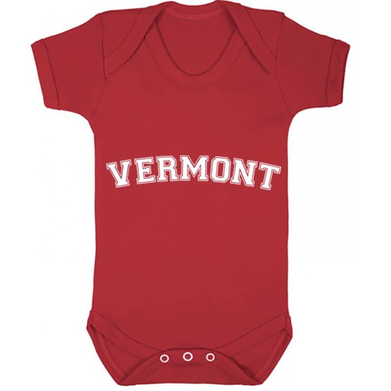 Vermont American Font unisex short sleeve baby vest babygrow K1107