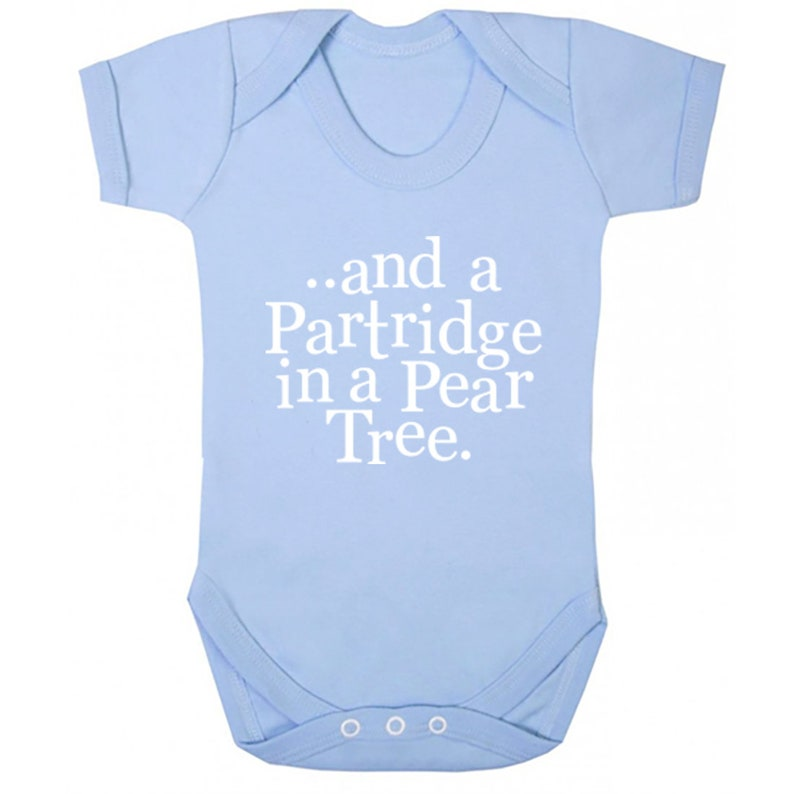 And A Partridge In A Pear Tree unisex short sleeve baby vest babygrow K1343