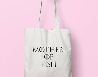 Mother Of Fish Tote Bag Long Handles TB0980