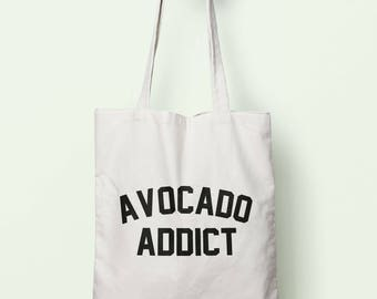 Avocado Addict Tote Bag Long Handles TB00543