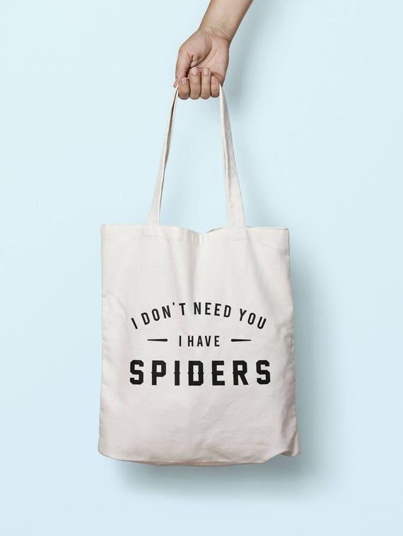 J'ai pas besoin de vous j'ai des araignées sac cabas anses longues TB00608