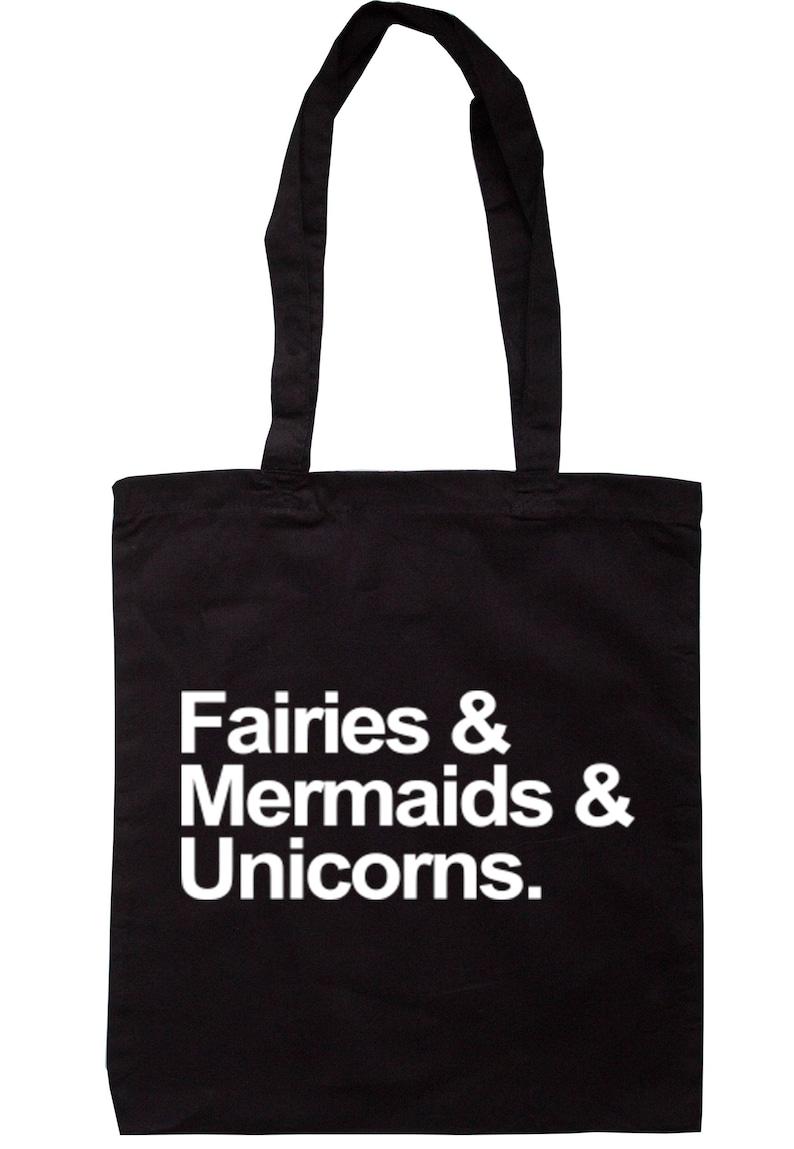 Fairies /& Mermaids and Unicorns Tote Bag Long Handles TB0100