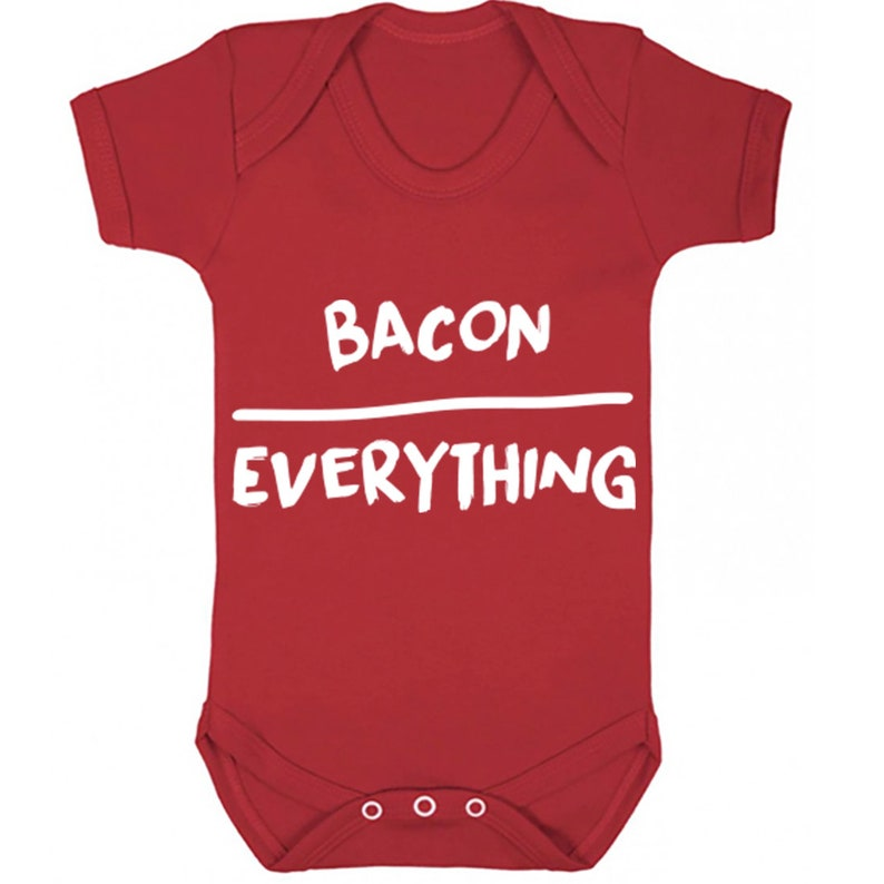 Bacon Over Everything baby vest babygrow K0125