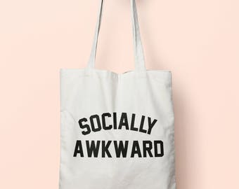 Socially Awkward Tote Bag Long Handles TB0030