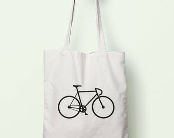 Bike Drawing Tote Bag Long Handles TB0760