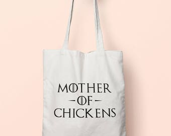 Mother Of Chickens Tote Bag Long Handles TB0983