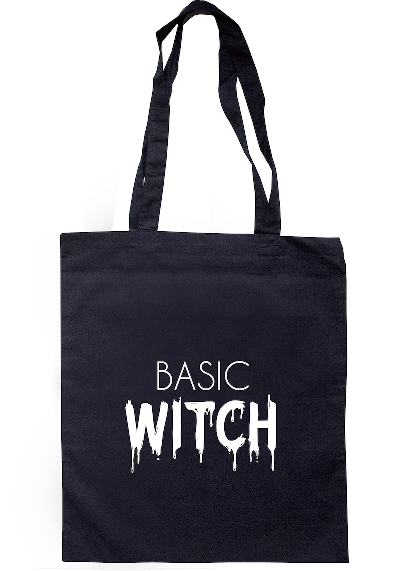 Basic Witch Tote Bag Long Handles S0810