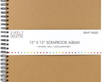 KRAFT WEDDING 40 PAGES SCRAPBOOKING PHOTO ALBUM IS 80 DOUBLE-SIDED