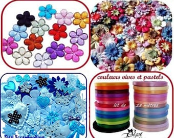 SALE WHOLESALE LOT 155 RIBBON FLOWER APPLIQUE RHINESTONE SCRAPBOOKING BLUE BAPTISM