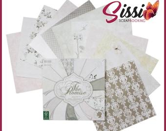 Maxi set 16 sheet of paper butterflies, shabby chic wedding pure vintage Parisian cardstock cardmaking 30 x 30 20 X 20 15X15cm