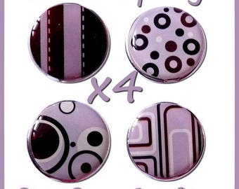 LOT 4 BRADS purple brown bubble SCRAPBOOKING 18mm EPOXY BRADS