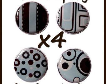 LOT 4 BRADS blue Brown bubble SCRAPBOOKING 18mm EPOXY BRADS