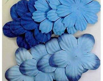 SET OF 10 BLUE SCRAPBOOKING SCRAP PAPER DIE CUTS