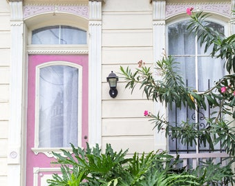 New Orleans Pink House Greeting Cards