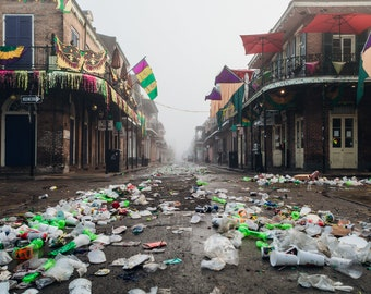 New Orleans Bourbon Street Mardi Gras Greeting Card