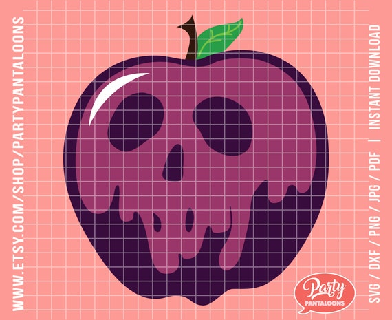 Poison Apple Svg Desing Perfect For A Snow White Evil Queen Etsy