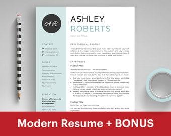 Nursing Resume Template Free | Modern Resume Template Word Cv Template Curriculum Vitae Etsy