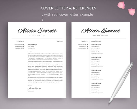 Modern Resume Template Instant Download | CV Template Word | Curriculum  Vitae Template | Free Resume for Mac Pages | ATS Friendly Resume