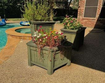 Rustic Flower Planters, Flower Box, Planter