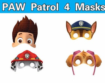 Captivating INSTANT DL Paw Patrol Masks Photo Booth Props Birthday Party  Printable