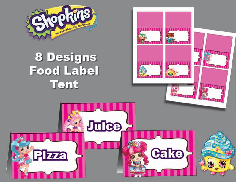 It's just a photo of Free Printable Shopkins Food Labels regarding candy