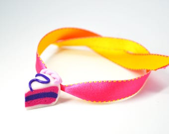 Ribbon Bracelet is from polymer clay cake