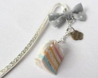 Cupcake bookmark Rainbow Fimo