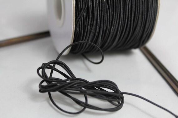 8741140018808 Fil Cordon Tissu Elastique 1mm Noir 5 mètres