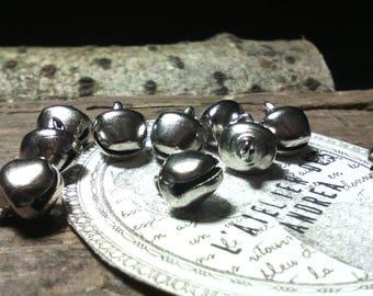 "☆Lot 10 pendants/charms ""bells"" silver metal ☆"
