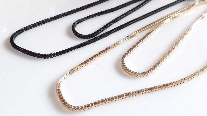 chain bracelet 10 meters fine mesh gunmetal color chain