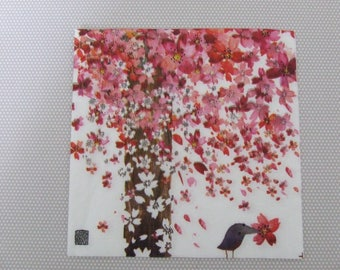 Cherry tree and bird