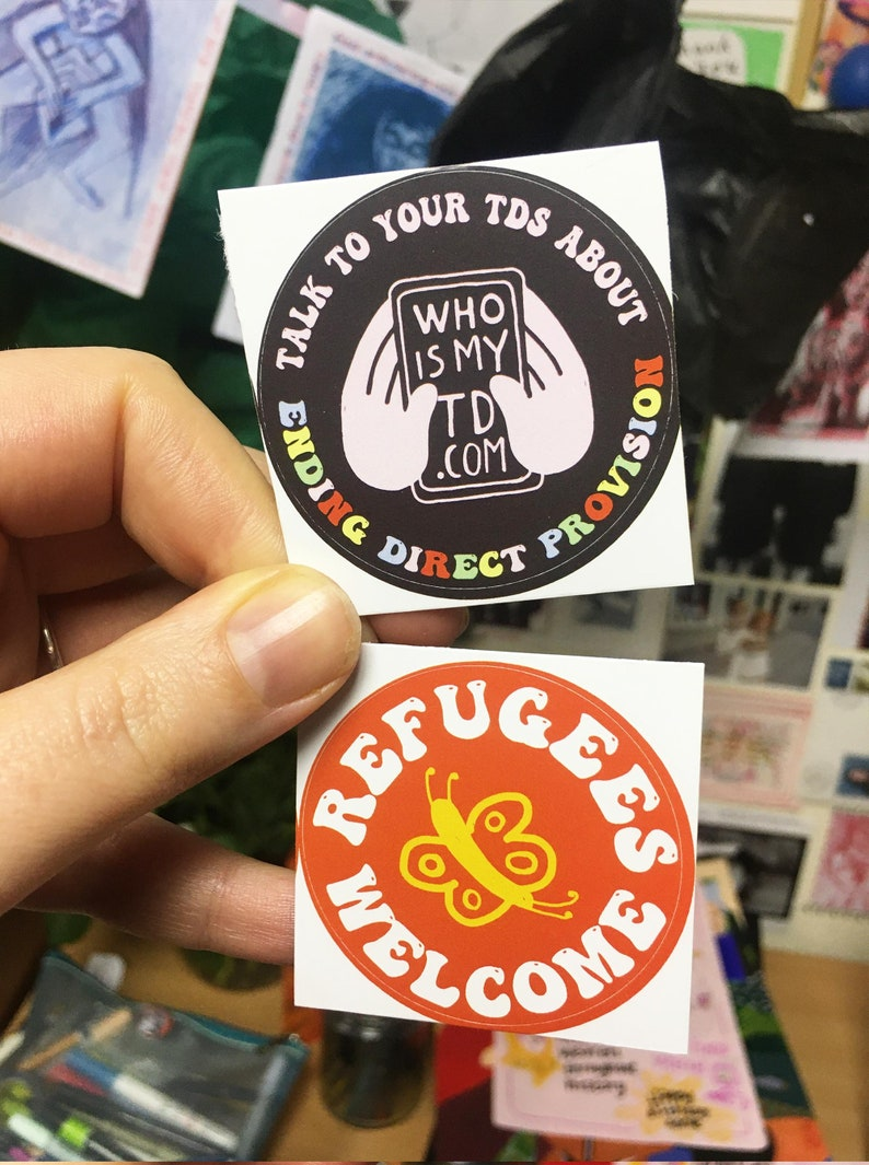 End Direct Provision Sticker Sets