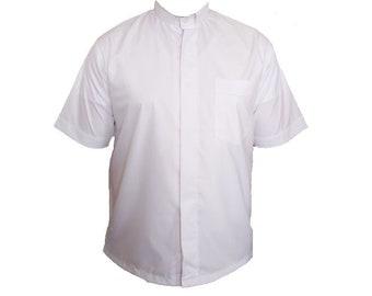 Overhemd Bloemen Boord.Priester Kraag Overhemd Etsy