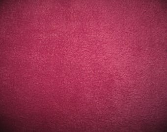 Fleece fabric coupon 50 cm x 1.50 m dark fuchsia