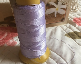 Lilac macrame cord or wire. 0.5 mmx1M