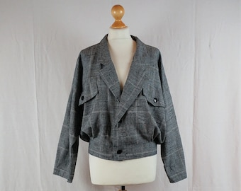 Finnish Vintage 1980s Batwing Sleeve Cropped Jacket