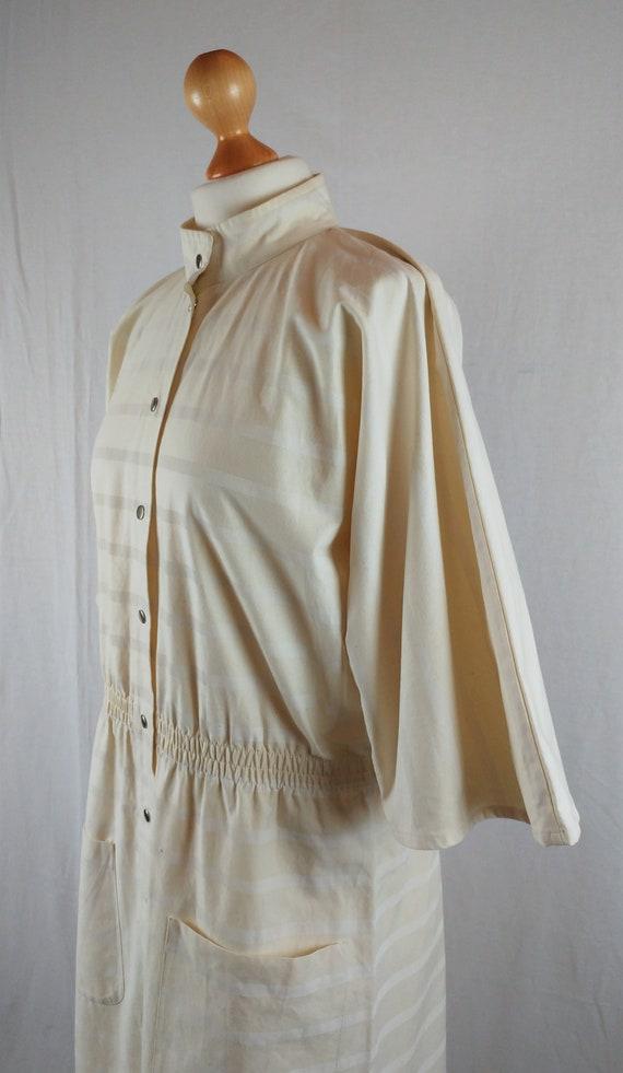 Vintage Vuokko 1970s Cream Striped Kimono Sleeve … - image 5