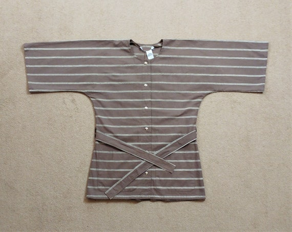 Vintage Vuokko 1970s Striped Tunic Top