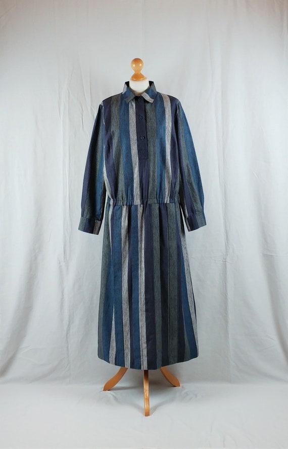Vintage Marimekko 1977 Colour Block Maxi Dress