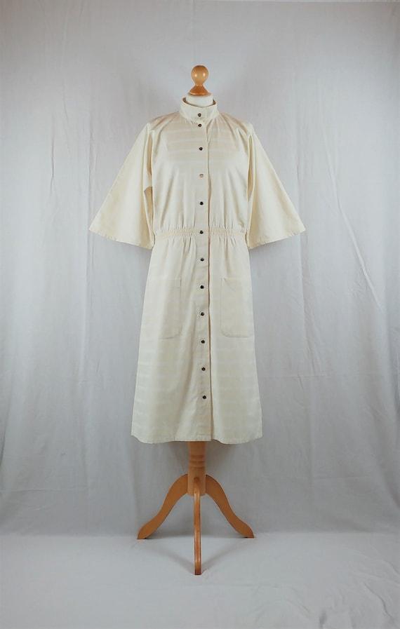 Vintage Vuokko 1970s Cream Striped Kimono Sleeve … - image 4