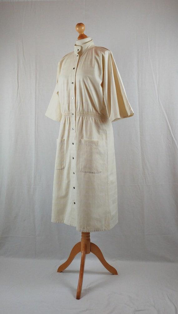 Vintage Vuokko 1970s Cream Striped Kimono Sleeve … - image 7