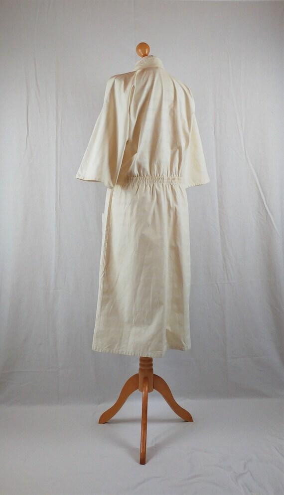 Vintage Vuokko 1970s Cream Striped Kimono Sleeve … - image 9