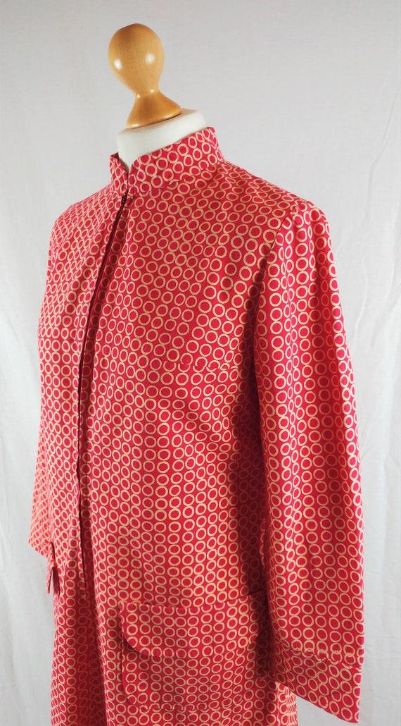 Vintage Vuokko 1960s Red Geometric Mod Tunic - image 2