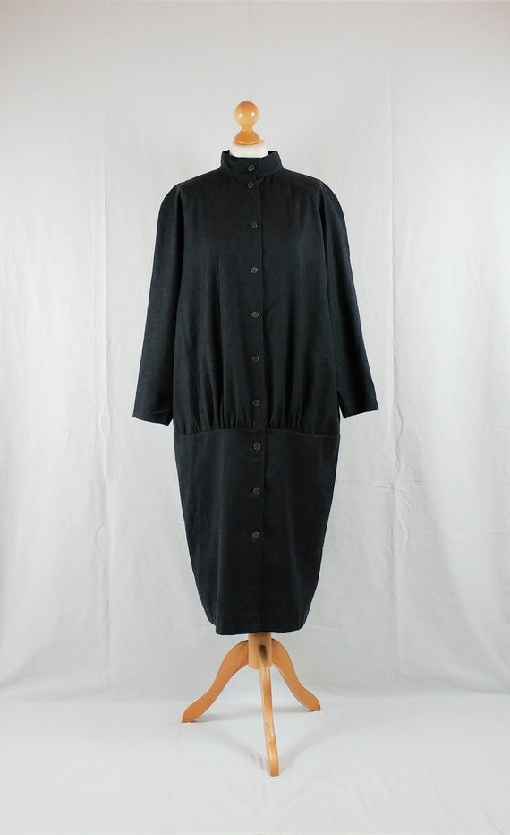 Vintage Marimekko 1980s Graphite Grey Oversized Co